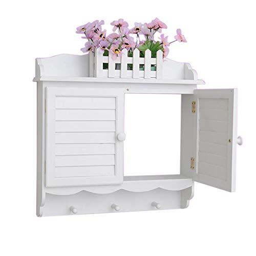 JCNFA planken Meter Box afscherming, jaloezieën blokkeren van de muur, muur Mount plank beugel, onder tv voor kabeldoos, DVD-speler, stereo AV-componenten plank, wit 16.14 * 4.33 * 18.11in Kleur: wit