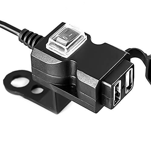 NLLeZ 1 UNID 12V-24V Dual USB MOTORYCE MOTORDYCLE CARGER Adaptador DE Cargador DE Potencia A Prueba de Agua Socket para iPhone Sam-Sung Hua-Wei