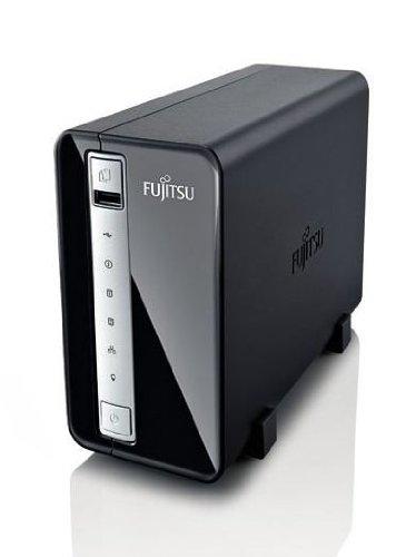 Fujitsu S26341-F103-L101 Celvin Q700 NAS-System mit Festplatten 2x500GB (2-Bay, SATA II, Ethernet, Raid) schwarz