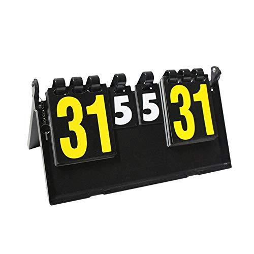 Cxraiy-SP Marcador de Puntaje Marcador de Baloncesto Cuatro dígitos Multifunción Tenis de Mesa Competición Deportiva Marcador Tenis de Mesa Baloncesto Bádminton 4 Marcador Marcador