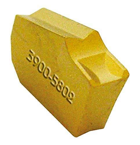 "HHIP 6024-2002 C6 Grade TiN Coated Carbide Insert, GTN 2 Style, 0.087"" Width"