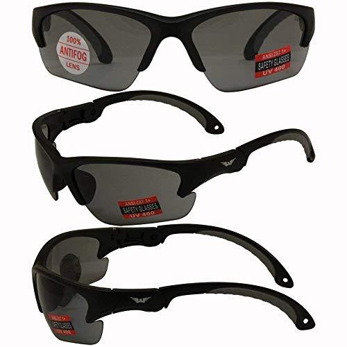 Global Vision - Occhiali da sole di sicurezza, montatura nera, lenti fumé di Global Vision Eyewear