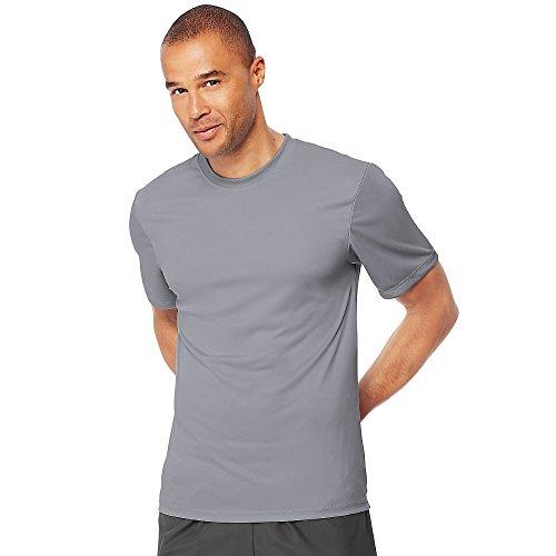 Camiseta masculina Hanes Cool Dri sem etiqueta, Graphite, 3X-Large