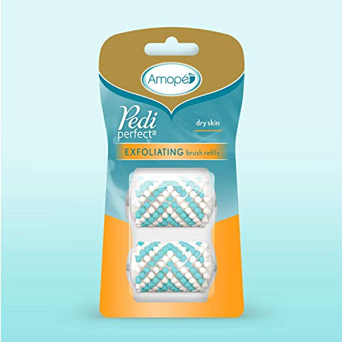 Amope Amope pedi perfect electronic foot file exfoliating brush refills (2 refills), for the perfect pedic, 8 Count