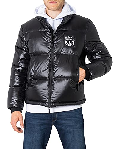 Armani Exchange Mens Jacket Down Coat, Black, XL