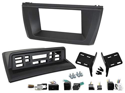 Facade autoradio 2DIN compatible avec BMW X3 03-10 Noir
