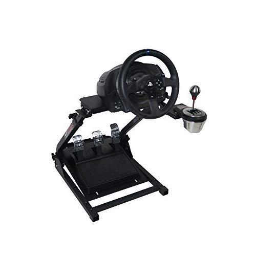 Z ZELUS Lenkradständer für Logitech G25 G27 G29 und G920 Lenkrad Gaming Wheel Stand Racing Lenkradständer mit V2 Schalthebelhalterung