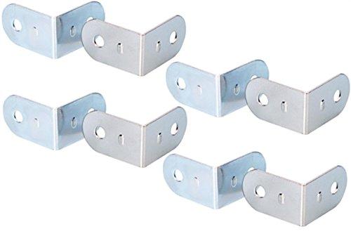 8 Stück Adam Hall 4041 L-Ecke 19 x 30 mm verzinkt 2-Loch klein Stahl, L-Winkel Schließ-Winkel L-Ecken