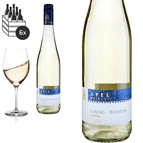 6er Karton 2019 Elbling Tradition vom Muschelkalk von Weingut Hubertus M. Apel - Weißwein