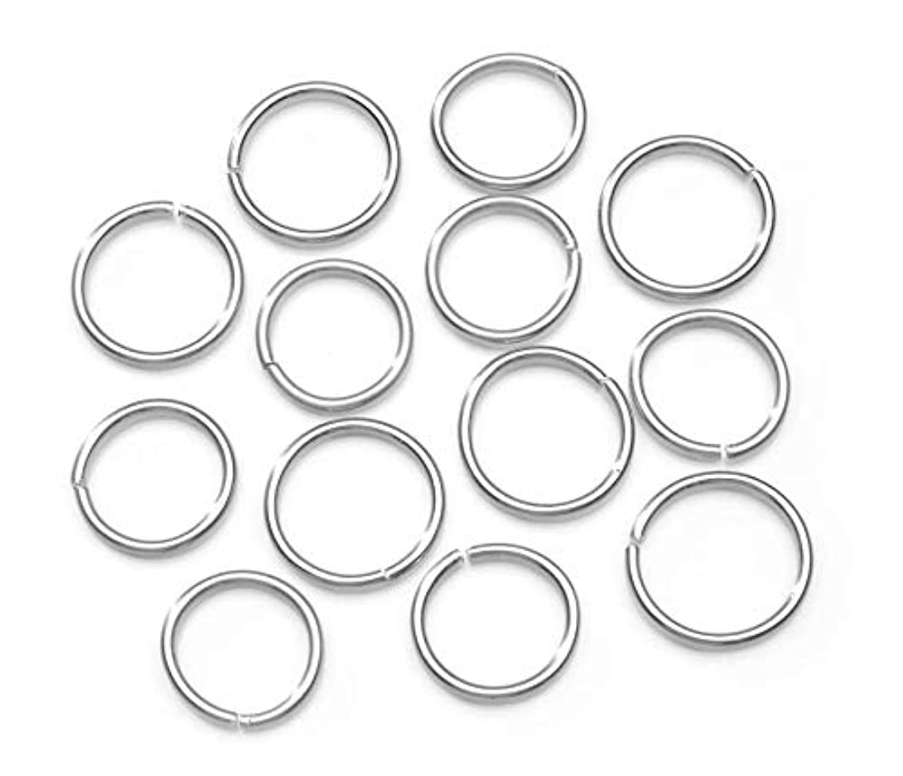 Jewelry Designer 1999-1754 Round AST 44PC Jump Rings Silver Alum, 44 Pieces,