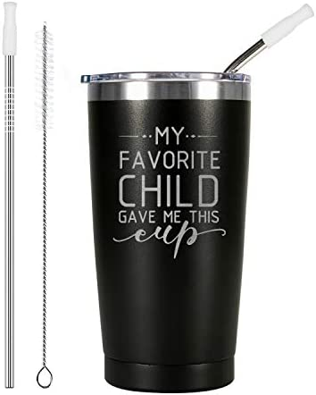 ElegantPark Birthday Gifts for Mom Dad Christmas Gifts for Parents My Favorite Child Gave Me product image