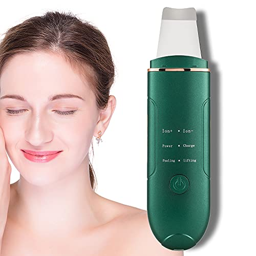 Skin Spatula,Face Skin Scrubber 4 Modes Facial Blackhead Remover Pore Cleaner Comedones Extractor Deep Cleansing Beauty Device Lifting Tool (Green)