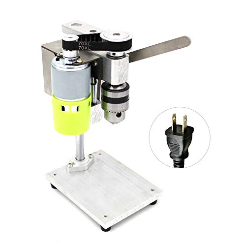 Lasamot Mini Drill Press for Bench Drilling Machine Variable Speed Drilling Chuck 1.5-10mm For DIY Wood Metal Electric Tools Miniature Small Bench Drill DIY Pure Aluminum Small Bench Drill
