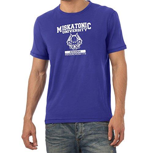 Texlab Herren Miskatonic University T-Shirt, Marine, XL