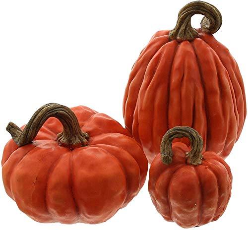 khevga Herbst-Dekoration Deko-Kürbisse im Set (orange)