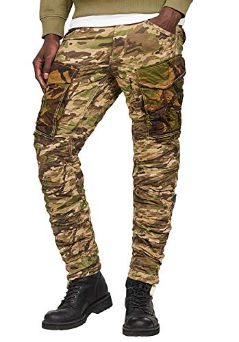 G-STAR RAW Herren Rovic Mix 3D Tapered Hose, Mehrfarbig (khaki/army green ao 8638-8111), 30/32