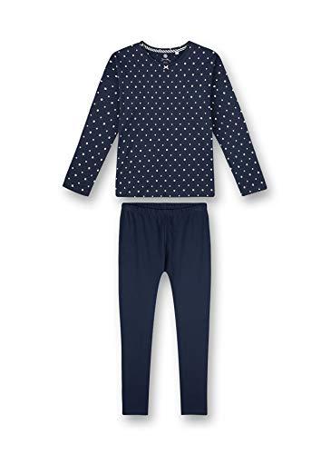 Sanetta Mädchen Schlafanzug lang blau Pyjamaset, Nordic Blue, 164