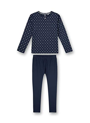Sanetta Mädchen Schlafanzug lang blau Pyjamaset, Nordic Blue, 152