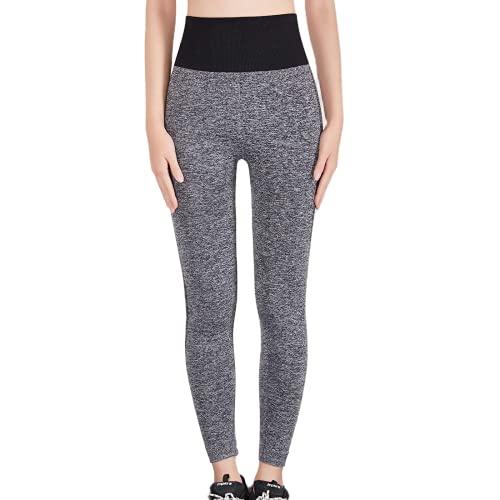 QTJY Medias de Celulitis de Entrenamiento a la Moda para Mujer, Pantalones de Yoga absorbentes de Sudor, Pantalones de Yoga de Cintura Alta, Pantalones de chándal Ajustados C L