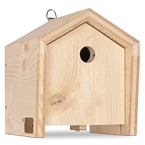 Gardigo Tier-Haus-System Nistkasten für Meisen | Made in Germany, aus Massivholz | In Sozialeinrichtung gefertigt