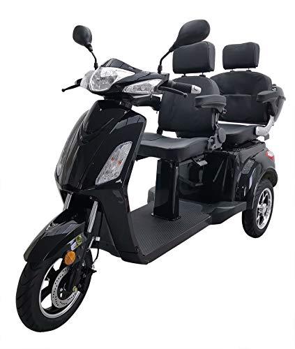 Elektromobil VITA CARE 2000 Seniorenmobil Senioren-Scooter mit Straßenzulassung E-Scooter E-Roller Produktvideo, Schwarz