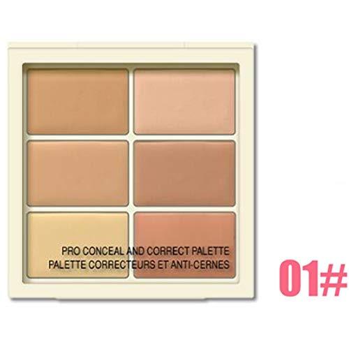 Outil de maquillage palette de 6 couleurs Conceler Palette Contour de la couleur correcteur de couleur (Color : 01# - for light-skinned)