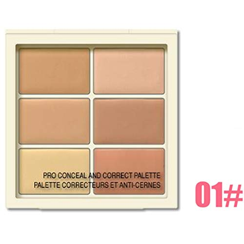Outil de maquillage palette de 6 couleurs Conceler Palette Contour de la couleur correcteur de couleur (Color : 01# - for light-skinned)