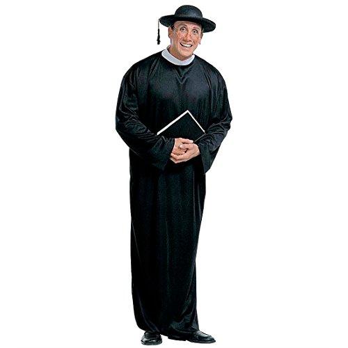 Disfraz de sacerdote para hombre, talla L (52), disfraz de hombre de morral, pastor, cardenal, obispo, iglesia, tnica, disfraz de carnaval, fiesta temtica, carnaval, religin, carnaval, carnaval