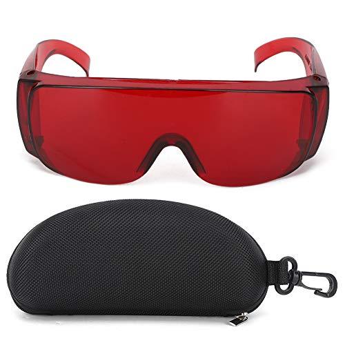 Laserbrille Schutzbrille Industriezubehör Schutzbrille Rotlicht Wellenlänge 650 Blau Licht 445 Blau Lila Licht 405nm für Lichtfilter(rot)