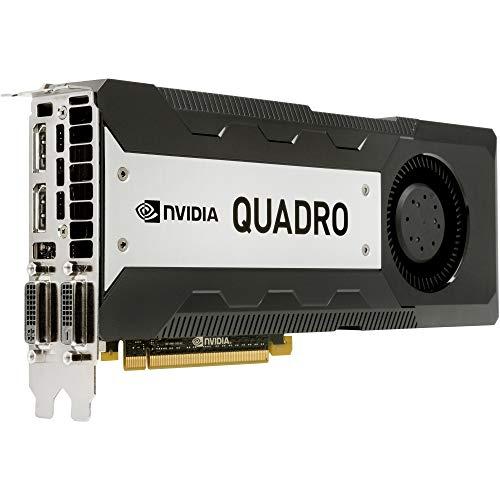 HP Quadro K6000 - Tarjeta gráfica (12 GB, GDDR5 SDRAM, PCI Express 3.0 x16, DisplayPort, DVI, C2J96AA, reacondicionada)