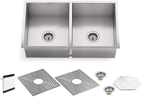 Double Basin Kohler Undercounter Kitchen Stainless Steel Sink