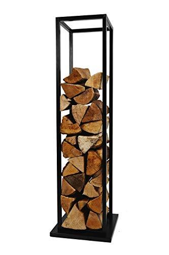 Montixx Kaminholzständer 33CM x 33CM x 115CM Holzregal Holzablage aus Eisen Pulverbeschichtet Gartenunterstand