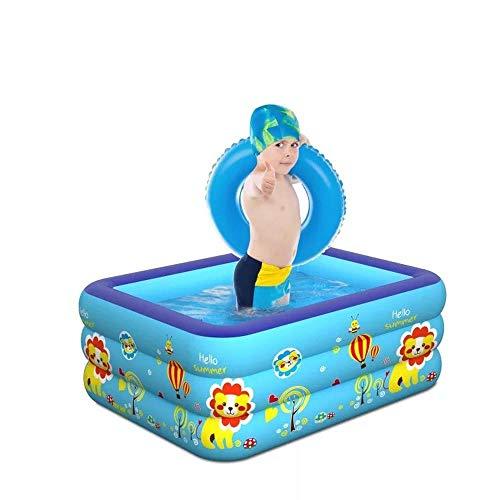 inflatable toys Sommer Neue Quadratische Aufblasbare Pool Aufblasbare Spielzeuge, Badewanne, Schwimmbecken, Wasserballbecken, Geeignet Für Garten Im Freien - 150 * 110 * 55cm A