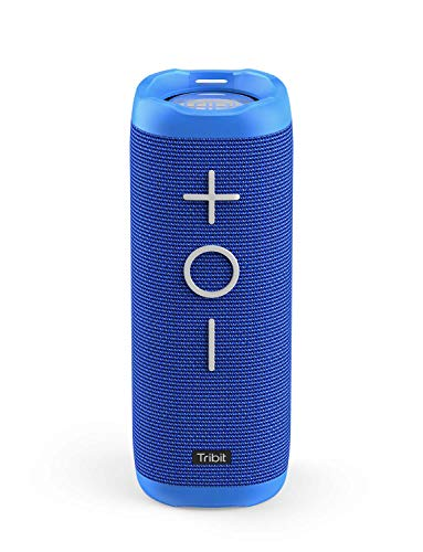Tribit StormBox Bluetooth Speaker - 24W Portable Speaker, 360° Surround Sound, Enhanced Bass, Wireless Dual Pairing, IPX7 Waterproof, 20-Hour Playtime, 66ft Bluetooth Range Outdoor Speaker (Blue)