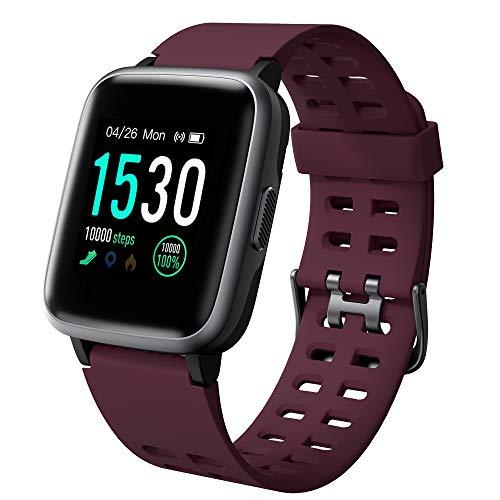 YAMAY - Reloj inteligente para mujer y hombre, Android IOS, con vibración, pulsera conectada para cardio impermeable, IP68