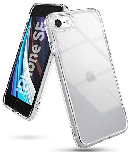 Ringke Fusion Case Designed for New iPhone SE 2020 (2nd Generation) Compatible with iPhone 8 (4.7') - Clear Transparent