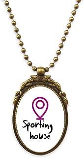 Women Degradation Negative Places Antique Necklace Vintage Bead Pendant Keychain