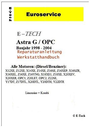 E-Tech REPARATURANLEITUNG/WERKSTATTHANDBUCH (CD) OPEL Astra G/OPC