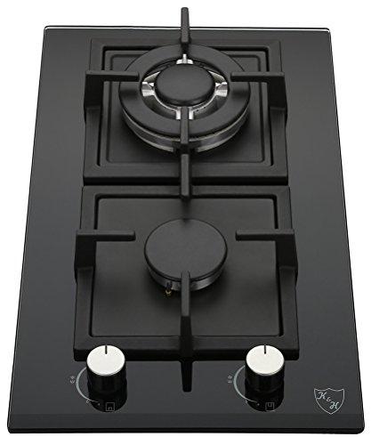 K&H® Domino Glas Gaskochfeld Wok Brenner Erdgas 2Z-KHGW