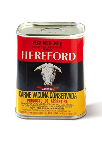 Hereford Carne Vacuna en Conserva, Pack de 4 x 340 gr
