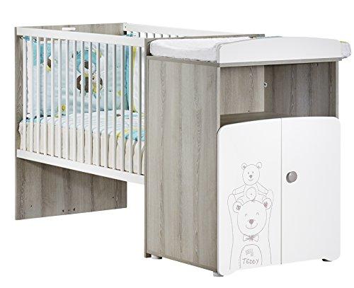 BABY PRICE Teddy Lit Bébé Combiné Évolutif 120 x 60 cm en 90 x 190 cm