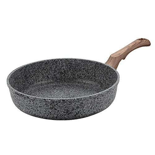 dingtian Sartén, Cocina Olla Engrosamiento Antiadherente freír Multiusos panqueques sartén Pan pastelería sin Humos Usan Gas Wok (Color : 28cm)