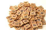300 Wood Scrabble Tiles - NEW Scrabble Letters - Wood Pieces - 2 Complete Sets - Great for Crafts, Pendants, Spelling by Fuhaieec(TM)