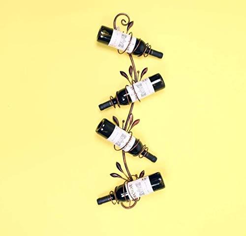 LYLSXY Estante de Vino, Estante de Vino Europeo Simple Moderno Estante de Vino, Colgante de Pared Soporte de Exhibición de Rack, Colgante de Pared Alenamiento de Rack de Vino Creativo,B