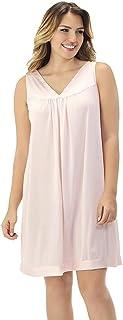 ثوب نوم رائع بدون أكمام بطول يصل إلى الركبة للنساء