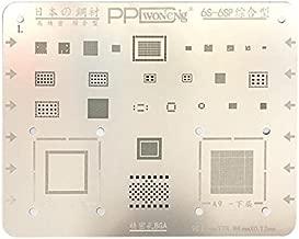 VIPFIX 0.12mm Multi-Purpose Phone BGA Reballing Stencil Template Kits Set for iPhone 6 6P 6S 6SP 7 7P 8 8P PCB NAND CPU Soldering Repair (6S 6SP)