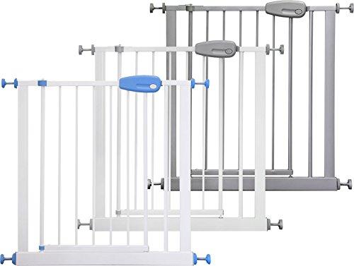 ib style MEGANE Barrière de sécurité| à pression - sans percage |Blanc-gris |74-87 cm