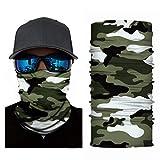 4Clean 3D Schlauchschal Halstuch Sturmmaske Gesichtsmaske Kopfbedeckung Outdoor Bandana Balaclava...