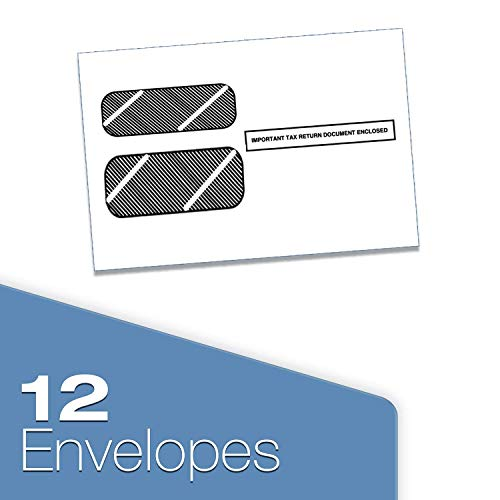 1099 Misc Tax Forms 2019 - Tangible Values 5-Part Kit with Envelopes - Software Download Included, 12 Pack Photo #2