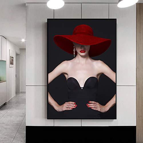 GJQFJBS Poster Wandkunst Leinwanddruck Mädchen Figur Malerei Wohnzimmer Bild Home Decoration Wandbild A5 60x90cm